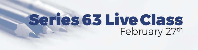 Series 63 Live Class
