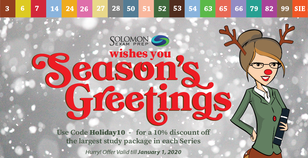 Seasons Greetings from Solomon Exam Prep