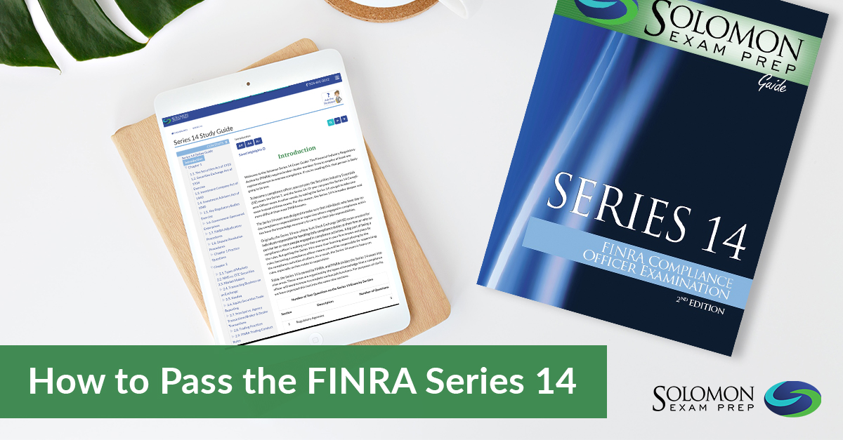 How to Pass the FINRA Series 14 and Become a FINRA-registered Compliance Officer