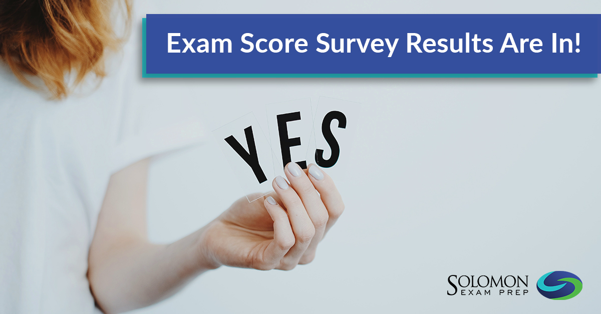 Securities Licensing Exam Score Survey Results