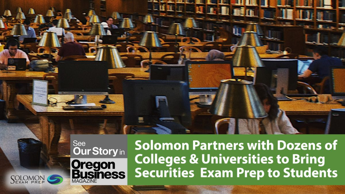 Solomon Partners with Colleges & Universities to Bring SIE Exam Prep to Students