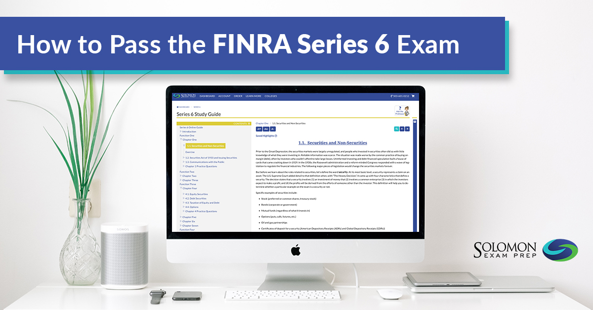 How to Pass the FINRA Series 6 Exam